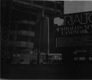 Rialto under construction, ca. 1982-83. (McConville, MHJ, 1983)